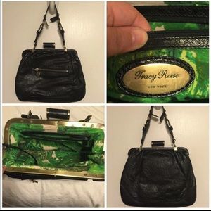 Tracy Reese Leather Ostrich Kisslock Bag